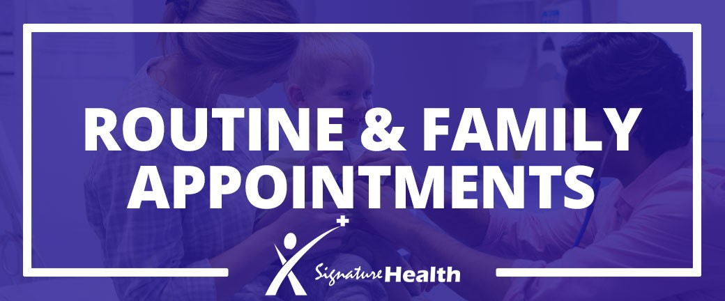 Routine and Family Appointments Calgary Walk-In Clinic